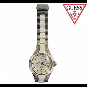 Guess White silver watch